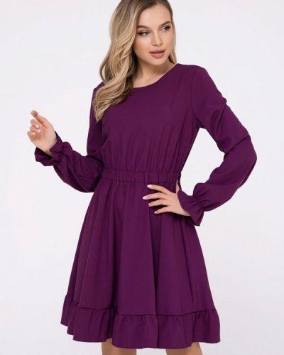 Прямое фиолетовое платье А-силуэта Magnet