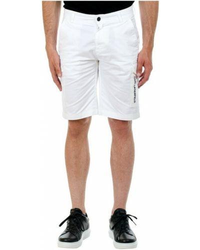 Białe bermudy Karl Lagerfeld