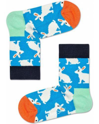 Колготы фиолетовый Happy Socks