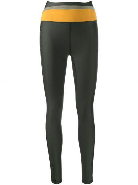Czarne legginsy z wysokim stanem materiałowe Adidas