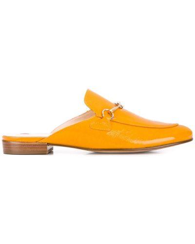 Мюли кожаные на каблуке Hogl