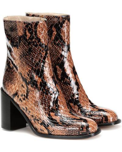 Brązowe ankle boots skorzane do pracy Maryam Nassir Zadeh