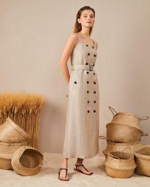 Платье миди сафари платье-сарафан 12storeez