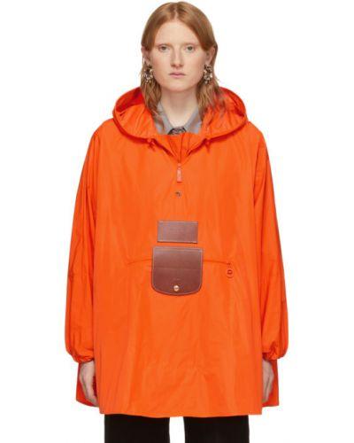 Кожаная куртка с капюшоном длинная Dheygere