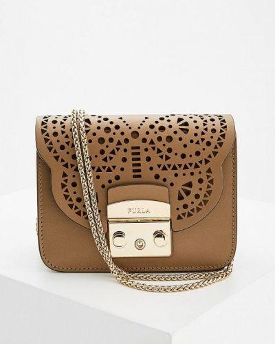 Коричневая сумка через плечо Furla