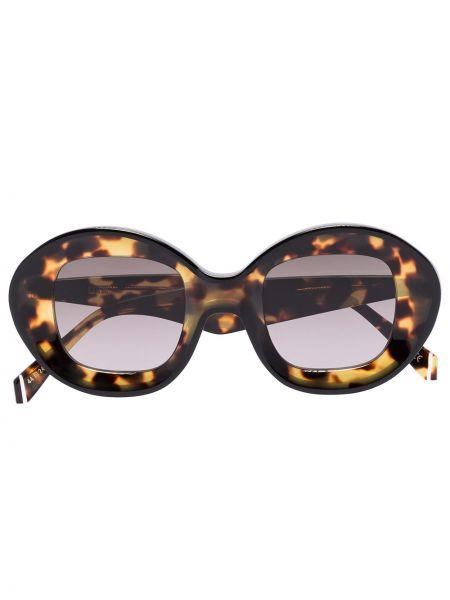 Прямые муслиновые солнцезащитные очки круглые хаки Kaleos