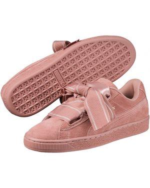 Замшевые коричневые кроссовки Puma