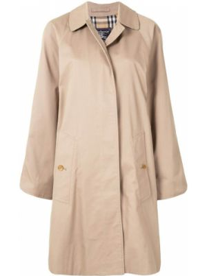 Прямое пальто классическое с воротником с рукавом реглан с подкладкой Burberry Pre-owned