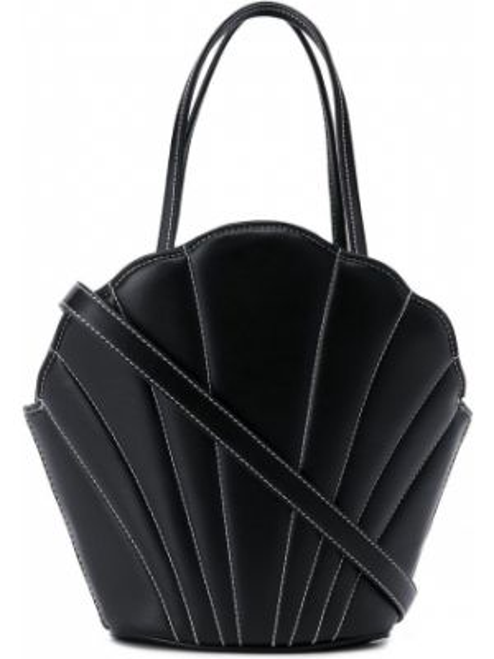 Кожаная черная кожаная сумка на шнурках Les Petits Joueurs