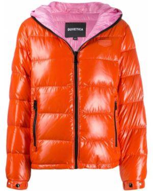 Куртка с капюшоном мятная с манжетами Duvetica