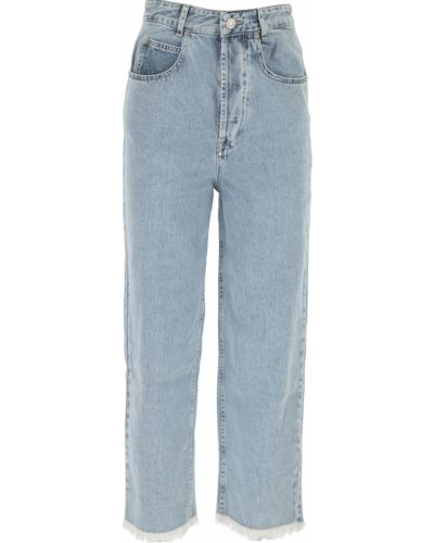 Niebieskie jeansy zapinane na guziki bawełniane Isabel Marant