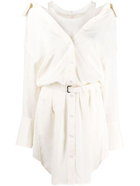 Платье с поясом на пуговицах платье-рубашка Alexander Wang