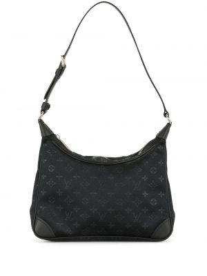 Кожаная черная маленькая сумка винтажная Louis Vuitton