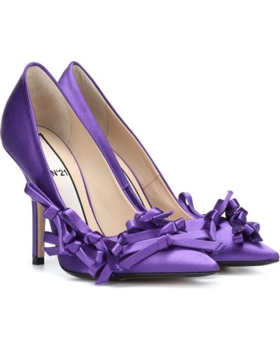 Сатиновые сиреневые туфли-лодочки N°21