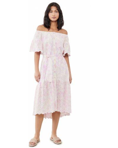 Платье с вышивкой с поясом с декольте Sundress