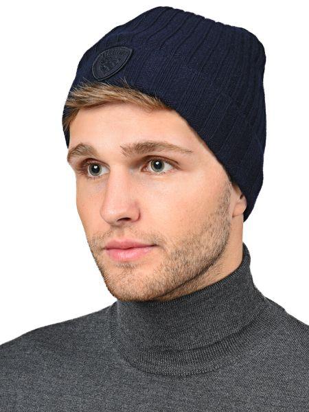 Кашемировая шапка - синяя Blauer