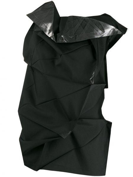 Czarna bluzka asymetryczna 132 5. Issey Miyake