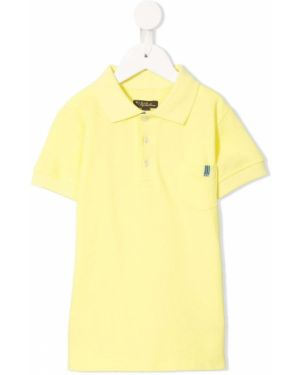Żółta klasyczna koszula krótki rękaw bawełniana Velveteen
