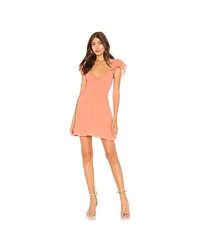 Платье на бретелях персиковое By The Way.