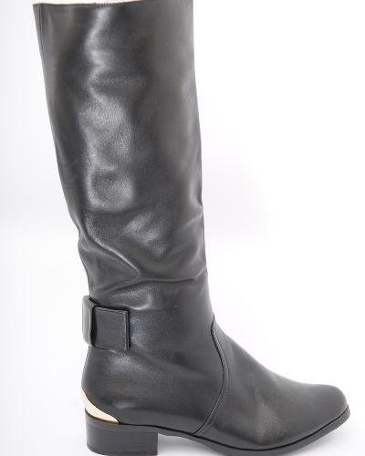 Сапоги на каблуке - черные Basconi
