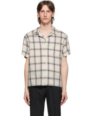 С рукавами белая рубашка с короткими рукавами с воротником с заплатками Second/layer
