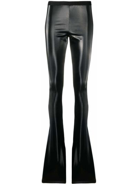 Расклешенные хлопковые черные брюки Rick Owens Lilies