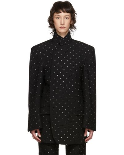 Пиджак черный в полоску Balenciaga