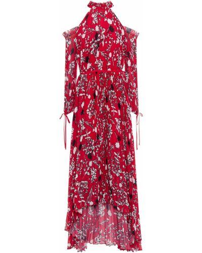Шифоновое розовое платье с подкладкой Self-portrait