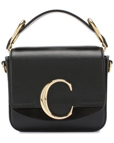 Кожаная сумка маленькая черная Chloé