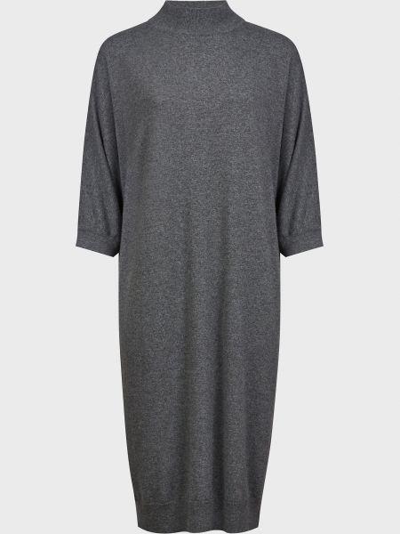 Шерстяное серое платье Kontatto