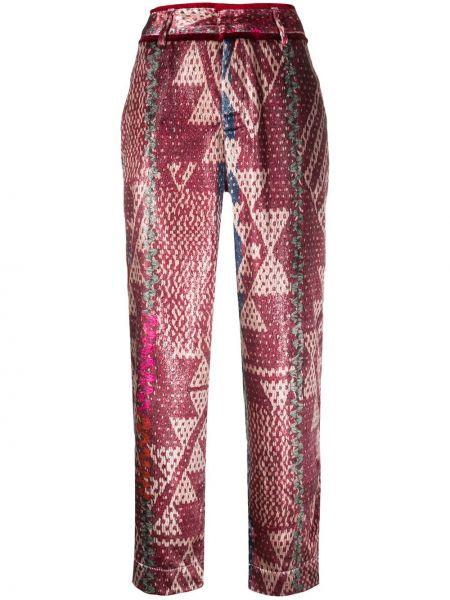 Свободные красные свободные брюки свободного кроя с потайной застежкой F.r.s. For Restless Sleepers