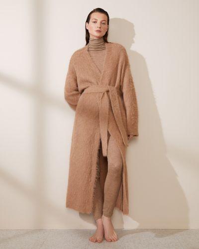 Пальто из альпаки - коричневое 12storeez