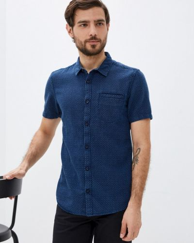 Синяя рубашка с короткими рукавами Q/s Designed By