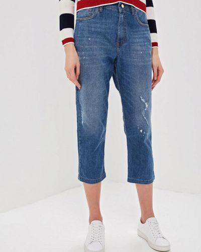 Широкие джинсы расклешенные синие Iblues