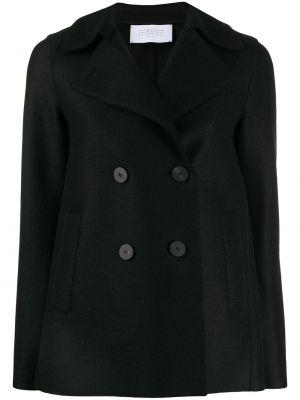 Прямая черная длинная куртка Harris Wharf London