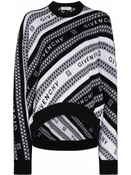 Wełniany czarny sweter Givenchy