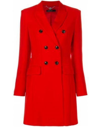 Длинное пальто двубортное классическое до колен Marc Cain