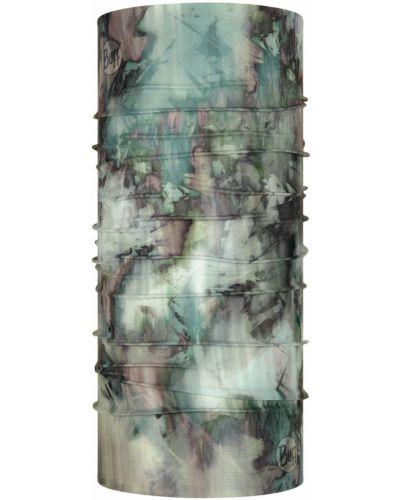 Zielony szalik bezszwowy materiałowy Buff
