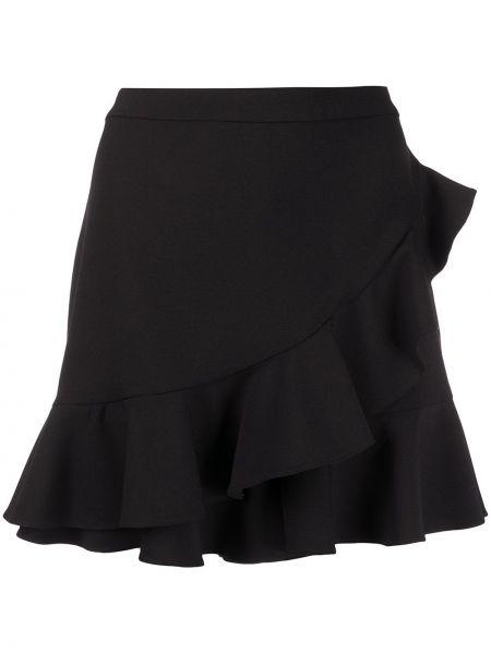 Черные короткие шорты с оборками Boutique Moschino