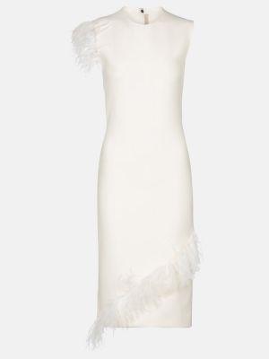 Wełniany biały sukienka przycięte Christopher Kane