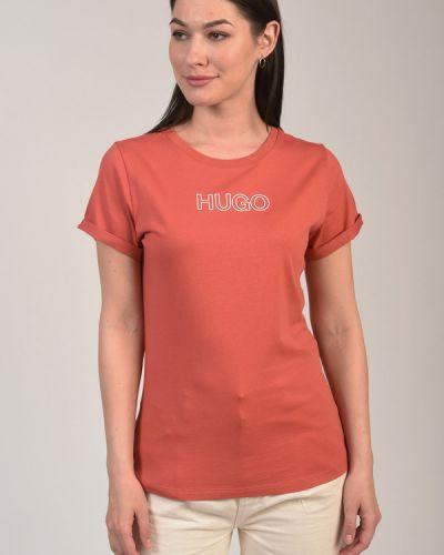 Хлопковая футболка Hugo