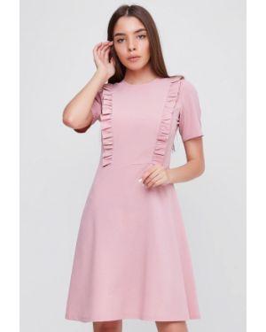 Платье розовое прямое Sfn