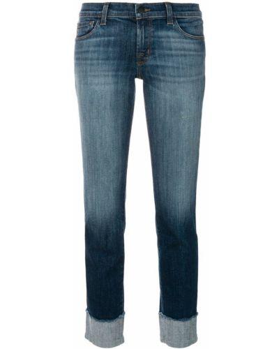 Укороченные джинсы варенки на пуговицах J Brand