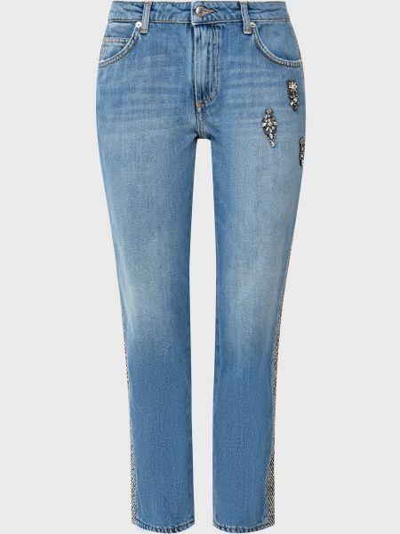 Хлопковые синие джинсы на молнии Ermanno Scervino
