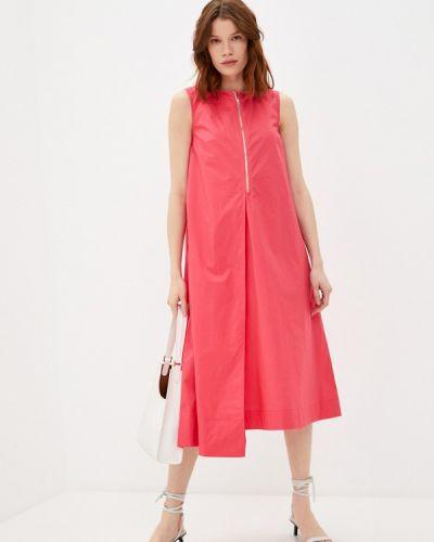 Прямое розовое платье А-силуэта Savage