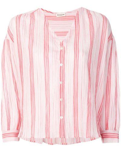 Белая рубашка в полоску Masscob