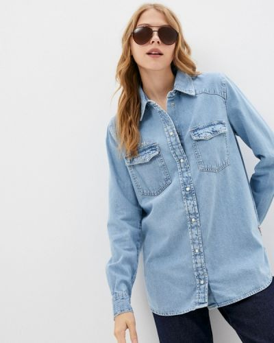 Голубая джинсовая джинсовая рубашка Guess Jeans