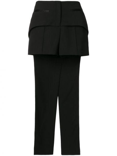 Шелковые черные шорты с карманами Vera Wang