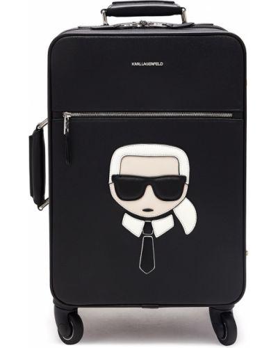 Чемодан на колесиках металлический Karl Lagerfeld