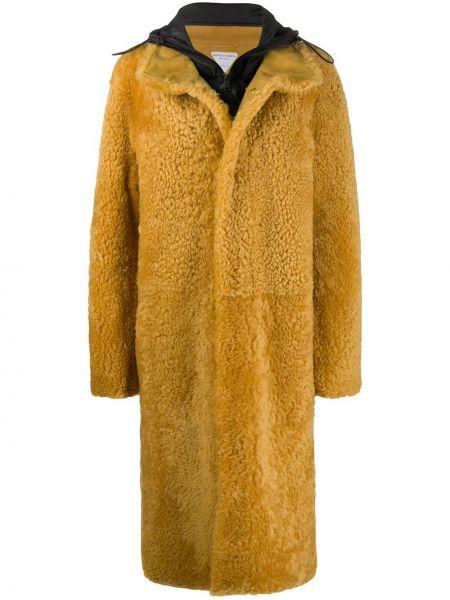 Длинное пальто с капюшоном оверсайз на молнии Bottega Veneta